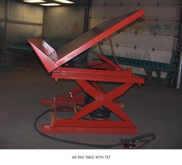 Air Bag Lift Table with Tilt