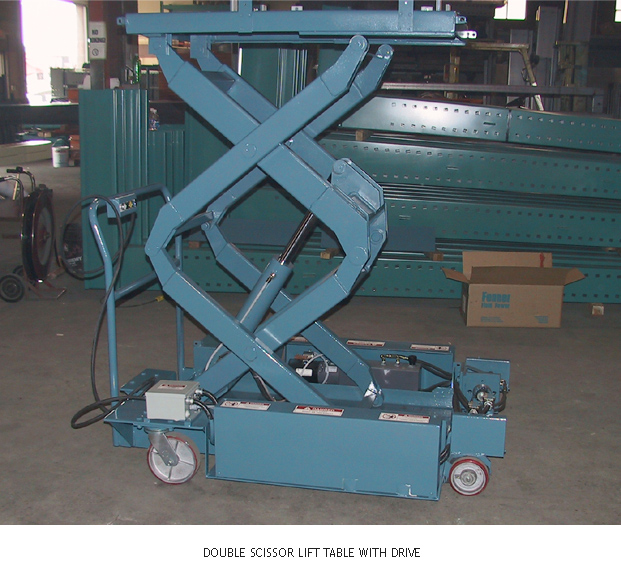 Double Scissor Lift Table with Drive