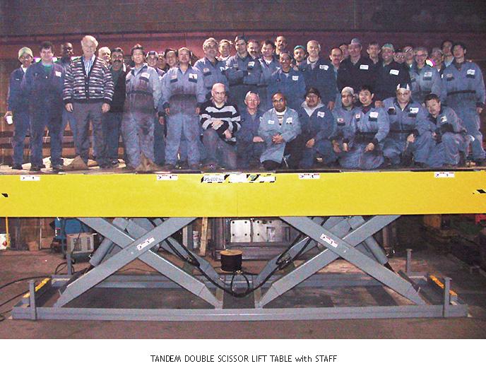 Tandem Scissor Lift with Staff